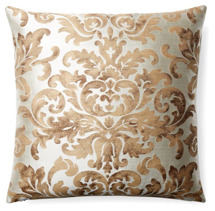Luciana 22x22 Pillow, Cream
