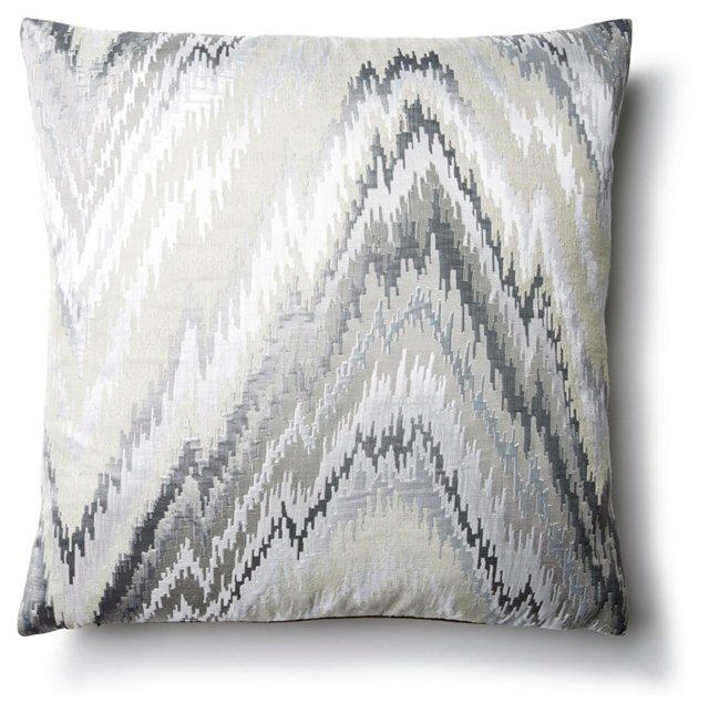 Emilia 16x16 Pillow, Gray