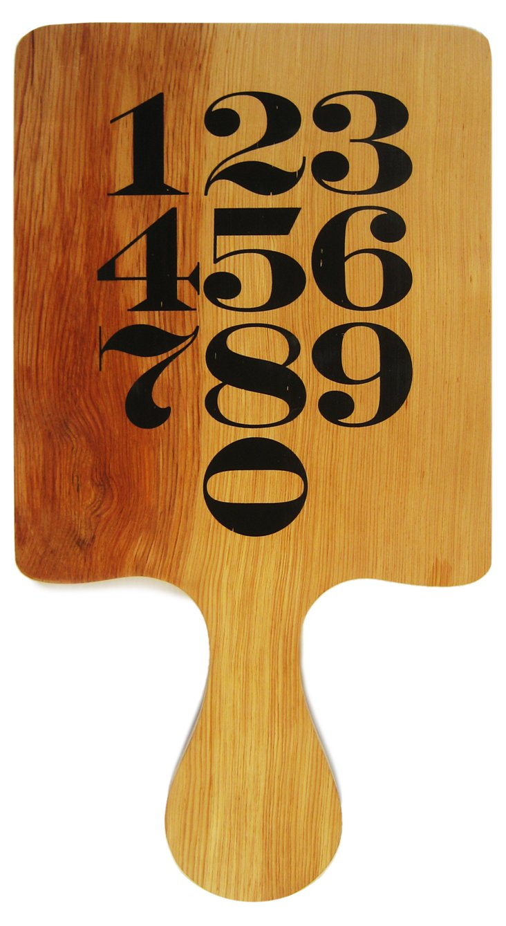 Numbered Wooden Paddle
