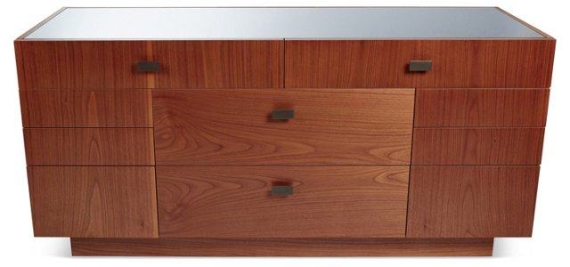 """Duet 63"""" Chest of Drawers, Brown"""
