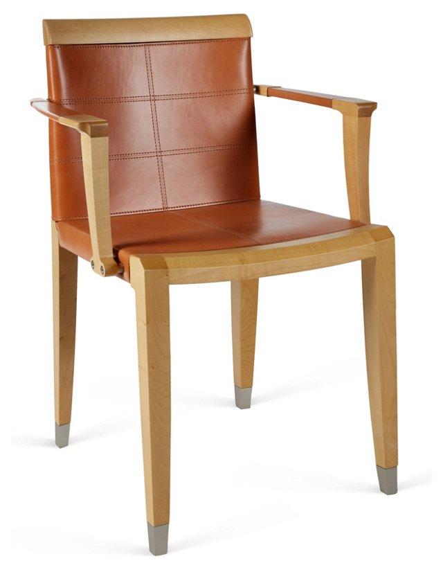 Aro Leather Armchair, Blonde/Cognac