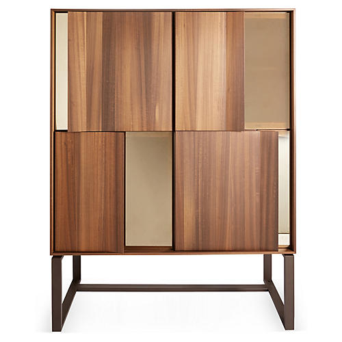 "Tall Origami 51"" Cabinet, Brown/Bronze"