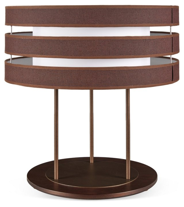 Planet Table Lamp, Brown