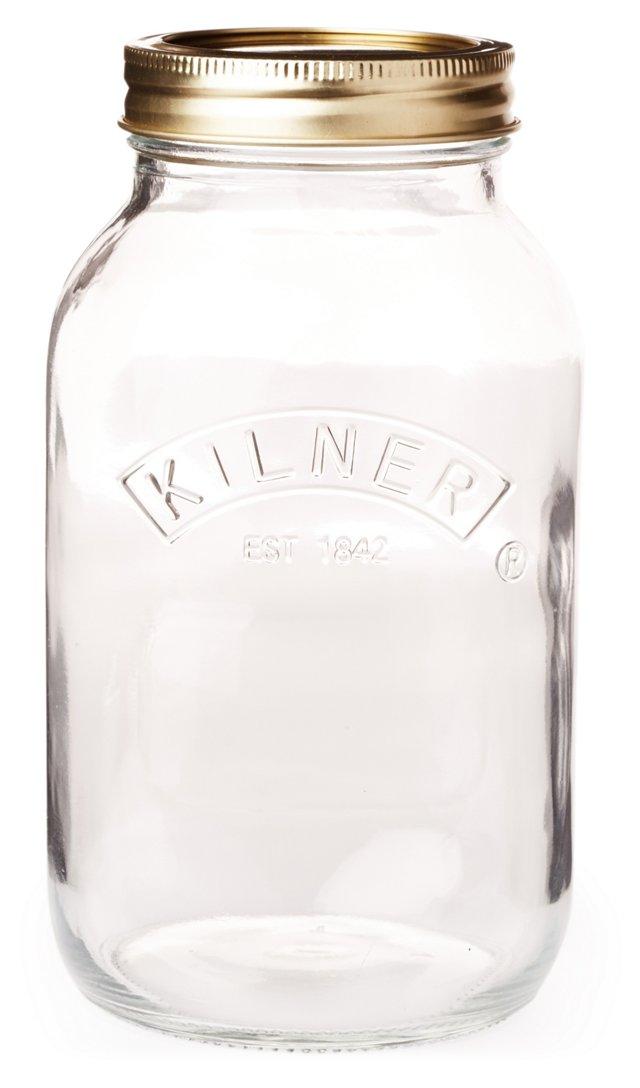 S/6 Preserve Jars, Clear
