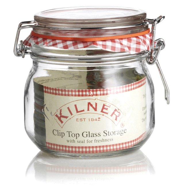 S/6 Clip Jars, Clear