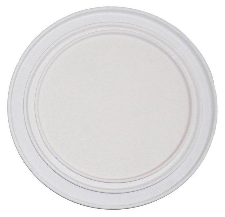 S/2 Ceramic Trays, Small White