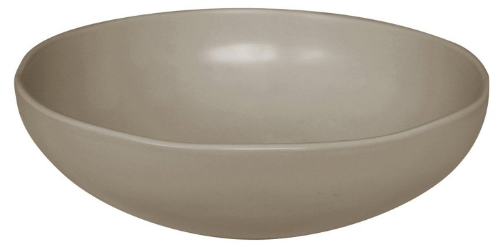 Stour Serving Bowl, Glossy Gray