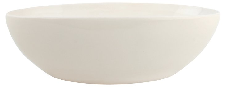 Seagate Oval Serving Bowl, White