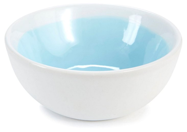S/2 Small Glazed Bowls, Aqua