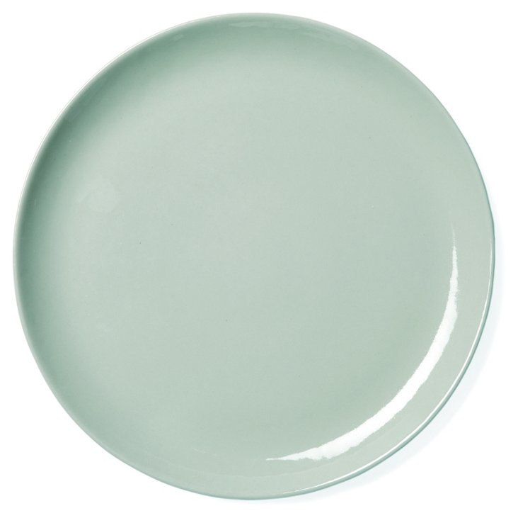 Round Shell Bisque Platter, Seafoam