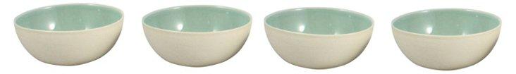 DNU S/4 Shell Bisque Bowls, Sea Foam