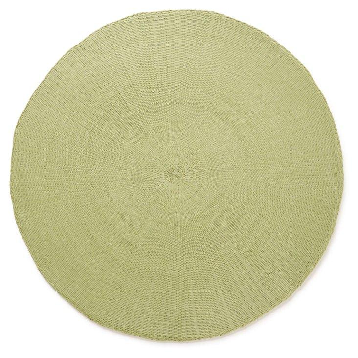 S/8 Round Cotton Placemats, Seafoam
