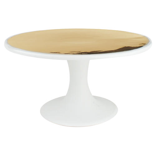 Dauville Cake Stand, Gold
