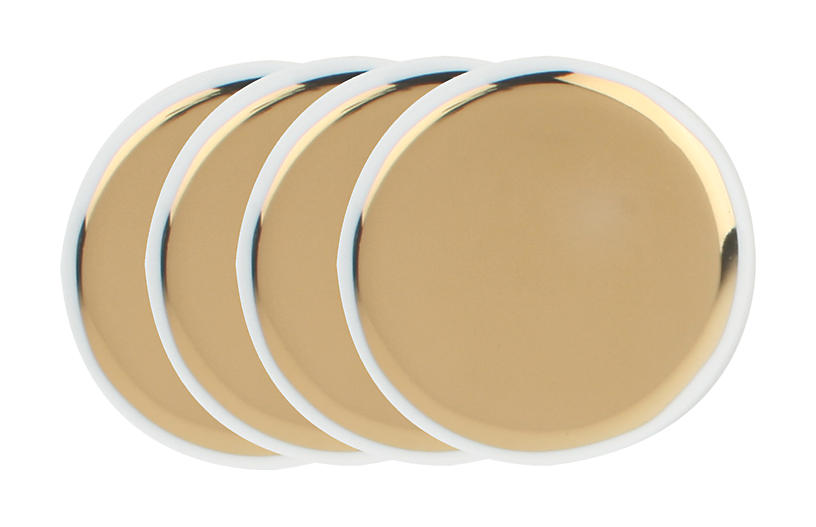 S/4 Dauville Coasters, Gold