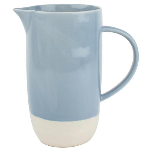 Shell Bisque Pitcher Blue