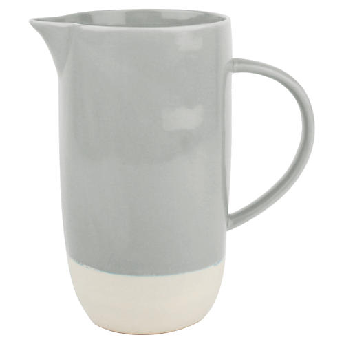 Shell Bisque Pitcher Gray