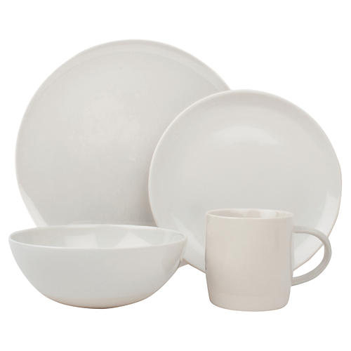 4-Pc Shell Bisque Place Setting, White