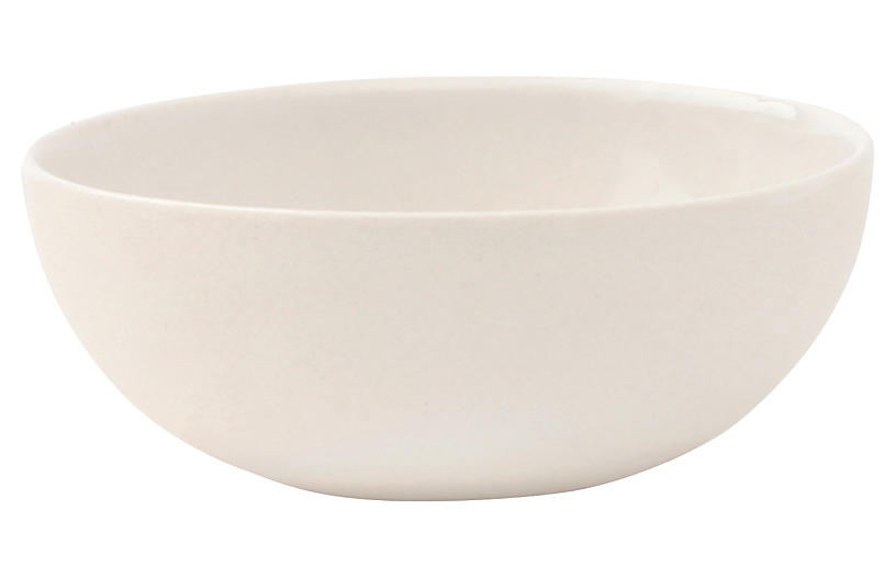 S/4 Shell Bisque Bowls, White