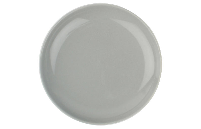 S/4 Shell Bisque Tidbit Plates, Gray