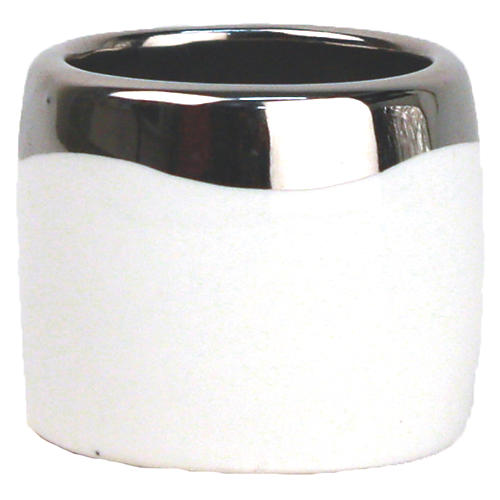 S/4 Dauville Napkin Rings, Platinum/White