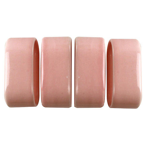 S/4 Cecily Napkin Rings, Pink