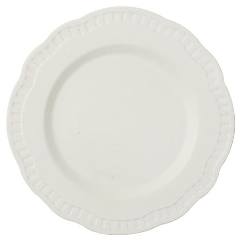 S/4 Ciara Salad Plates, Matte White