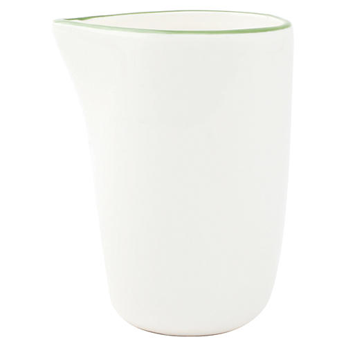 S/4 Abbesses Creamers, Green Rim