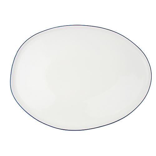 Abbesses Platter, Blue Rim
