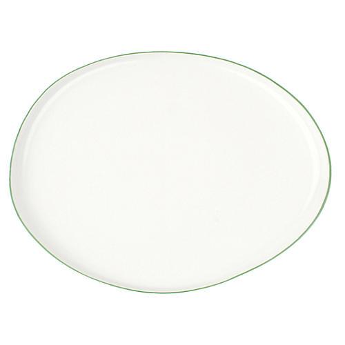 Abbesses Platter, Green Rim