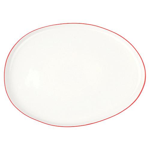 Abbesses Platter, Red Rim