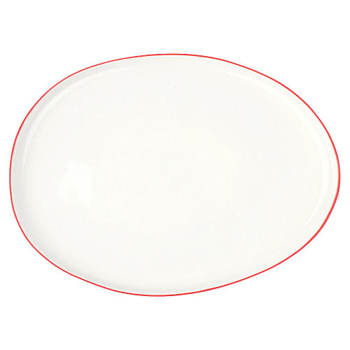 Abbesses Platter, Red Rim