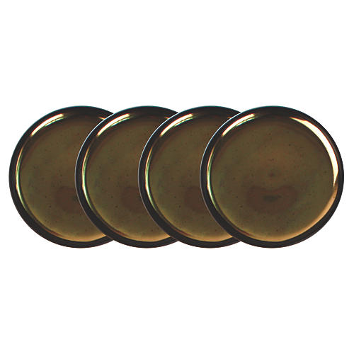 S/4 Dauville Coasters, Charcoal/Gold