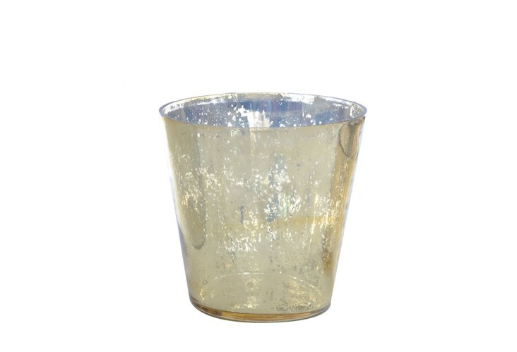 DNU S/6 Smooth Votives, Small Gold