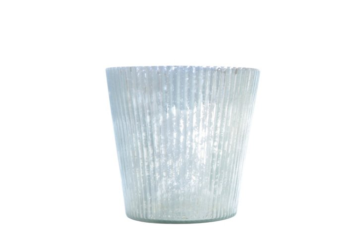DNU S/6 Ribbed Votives, Small Silver