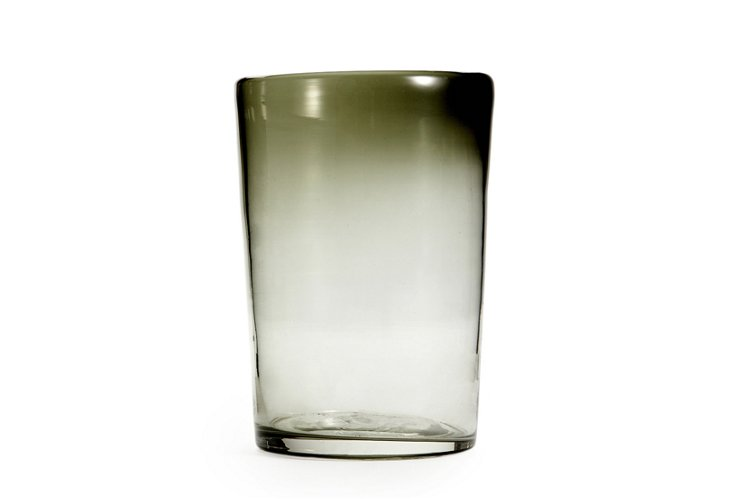 S/6 Highball Glasses, Gray Tint