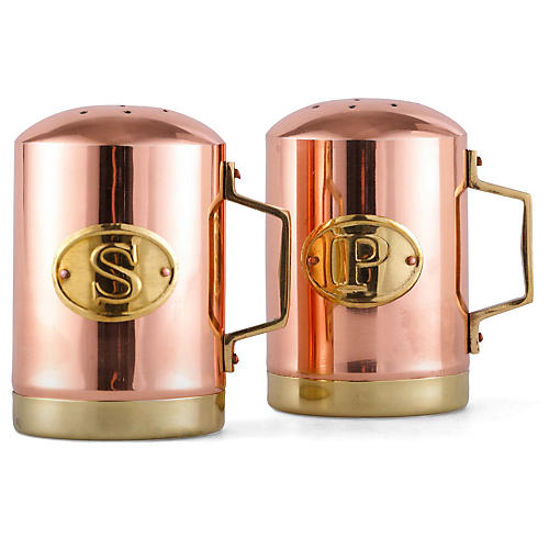 Two-Tone Salt & Pepper Set, Copper