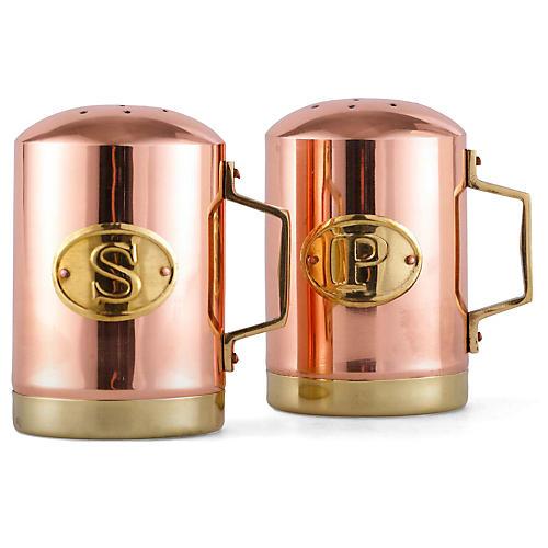 Two-Tone Salt & Pepper Set, Copper