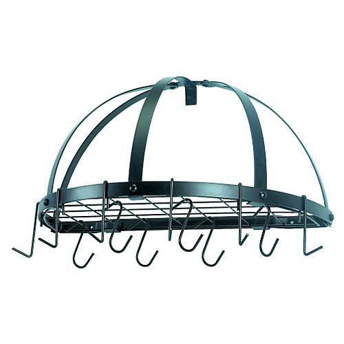 12-Hook Pot Rack, Graphite