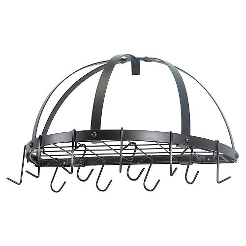 12-Hook Pot Rack, Oiled Bronze