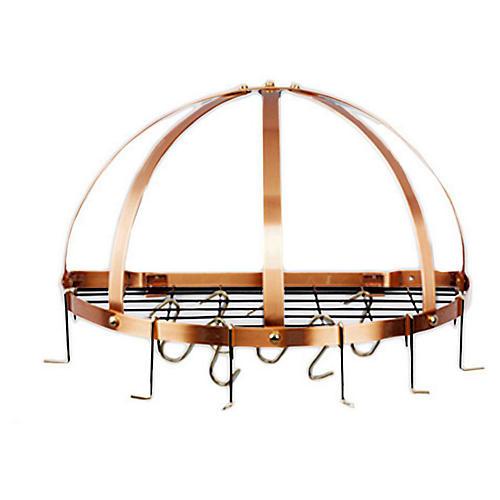 12-Hook Pot Rack, Copper