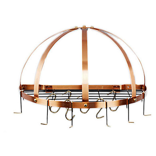 12-Hook Pot Rack, Copper
