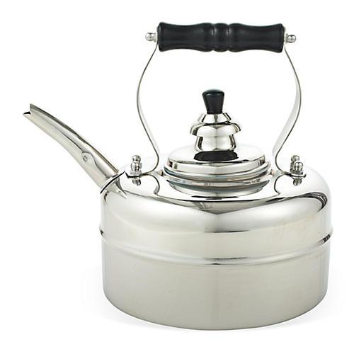 3 Qt Windsor Whistling Teakettle, Silver