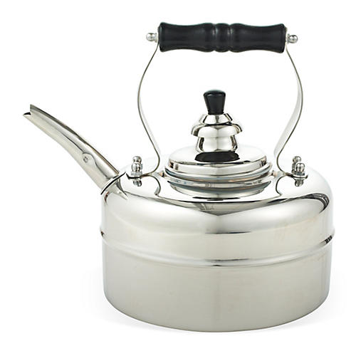 3 Qt Windsor Whistling Teakettle, Silver