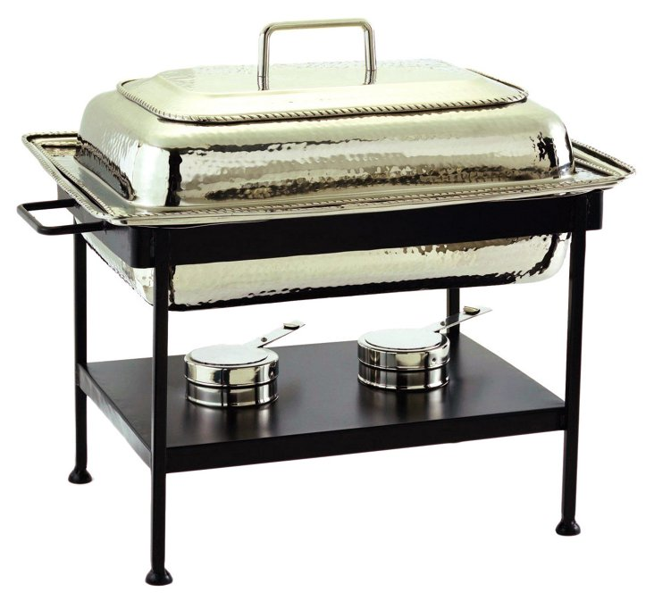 Nickel Plated Chafing Dish, 8 Qt