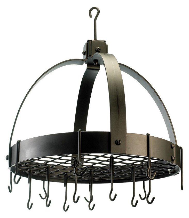 16-Hook Dome Pot Rack, Oiled Bronze