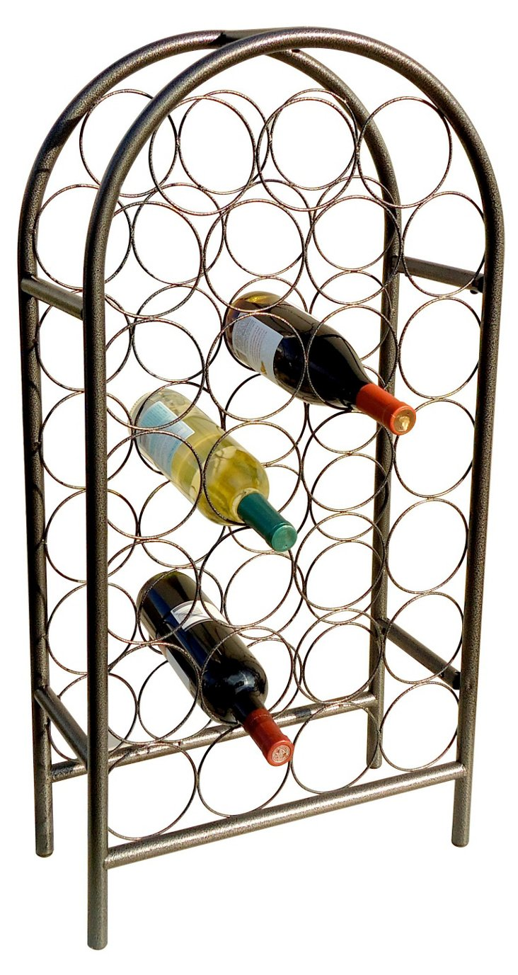 27-Bottle Classic Arch Wine Rack, Pewter