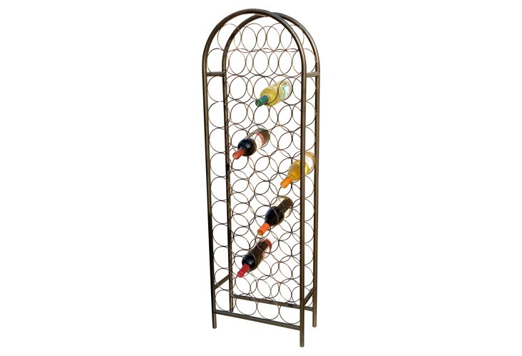 47-Bottle Classic Arch Wine Rack, Pewter