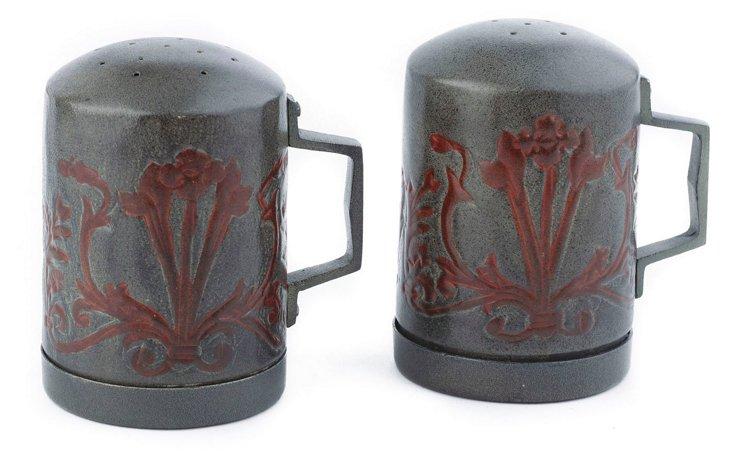 Art Nouveau Salt & Pepper Shaker Set