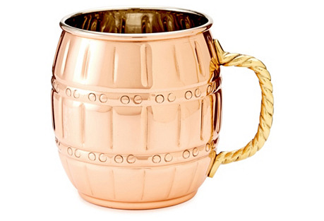S/2 Barrel Copper Moscow Mules