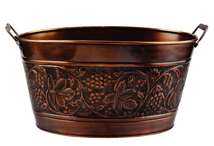 Antiqued Heritage Copper Party Tub